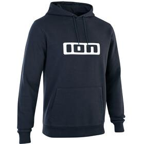 ION Felpa con cappuccio con logo Uomo, nero/bianco